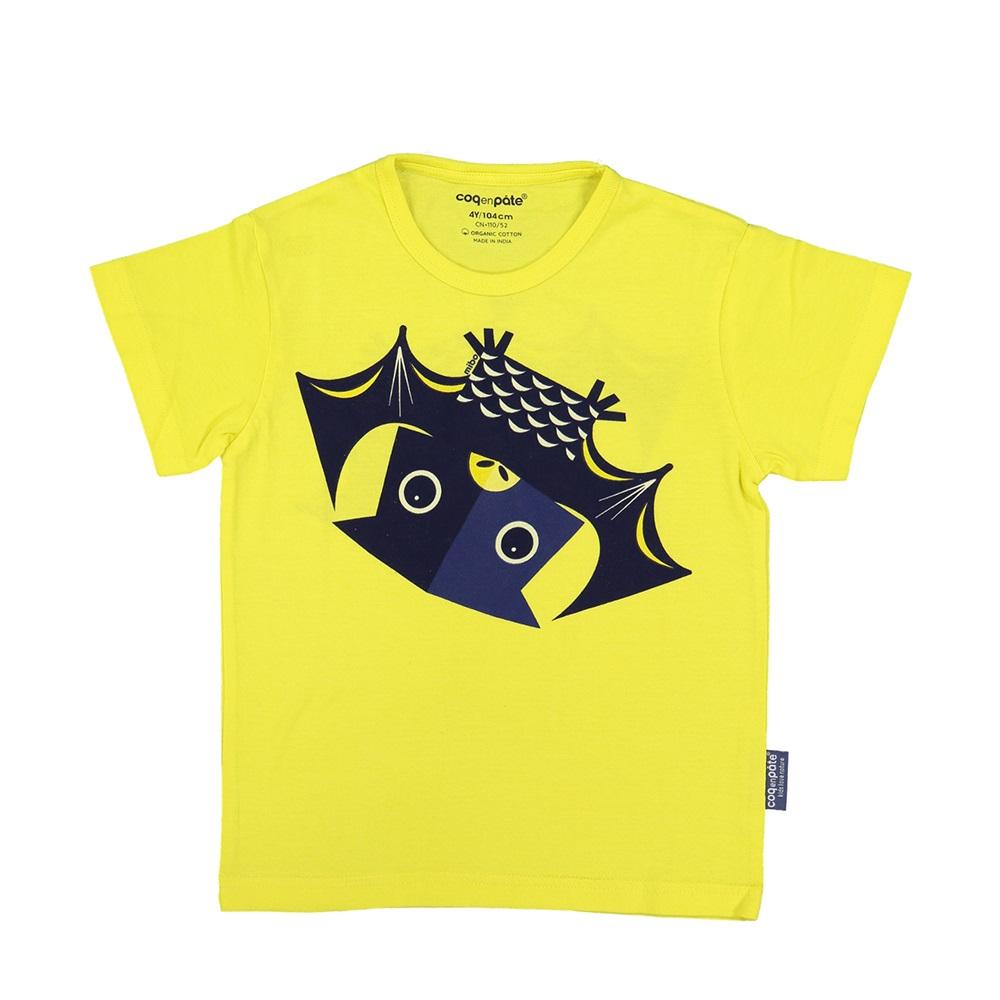 COQENPATE│法國有機棉童趣 短袖 T-SHIRT - 蝙蝠