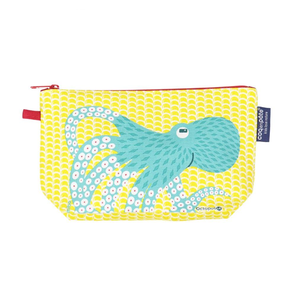 COQENPATE│法國有機棉無毒環保化妝包 / 筆袋- 畫筆兒的家 - 章魚