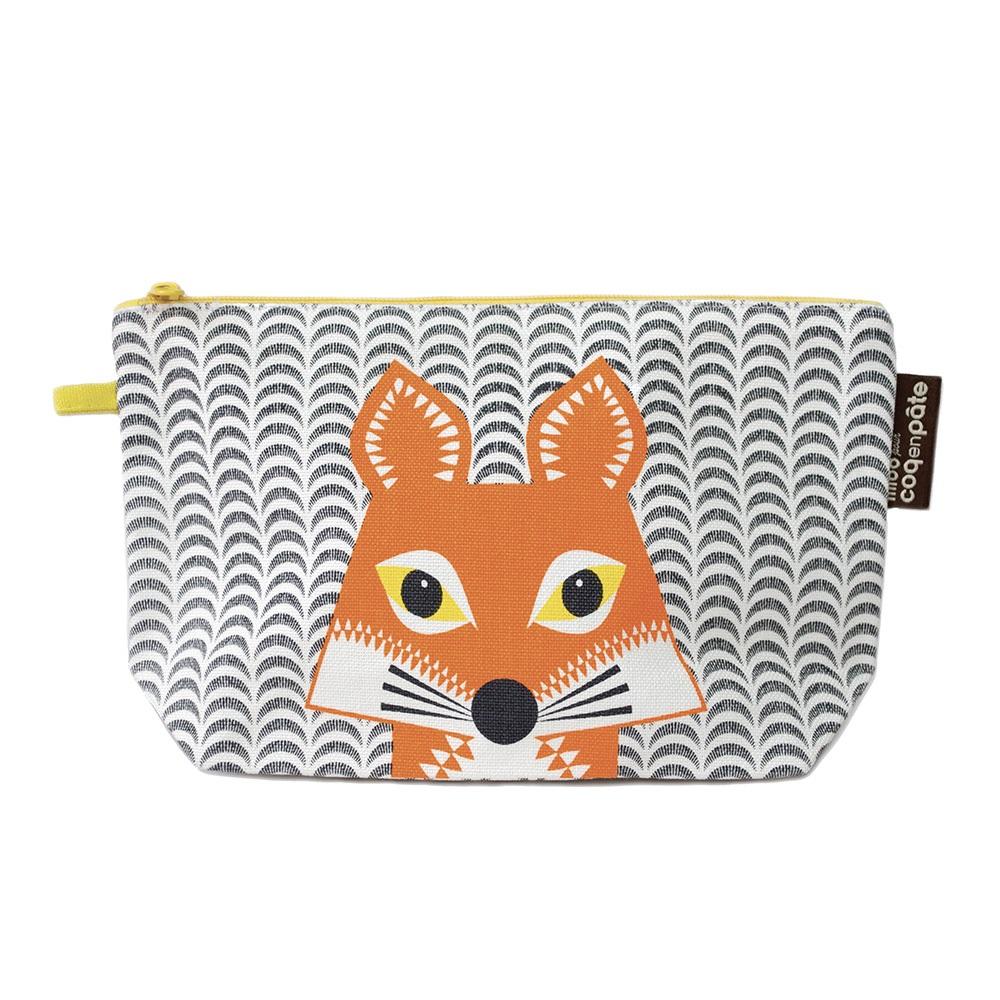 COQENPATE│法國有機棉無毒環保化妝包 / 筆袋- 畫筆兒的家 - 狐狸
