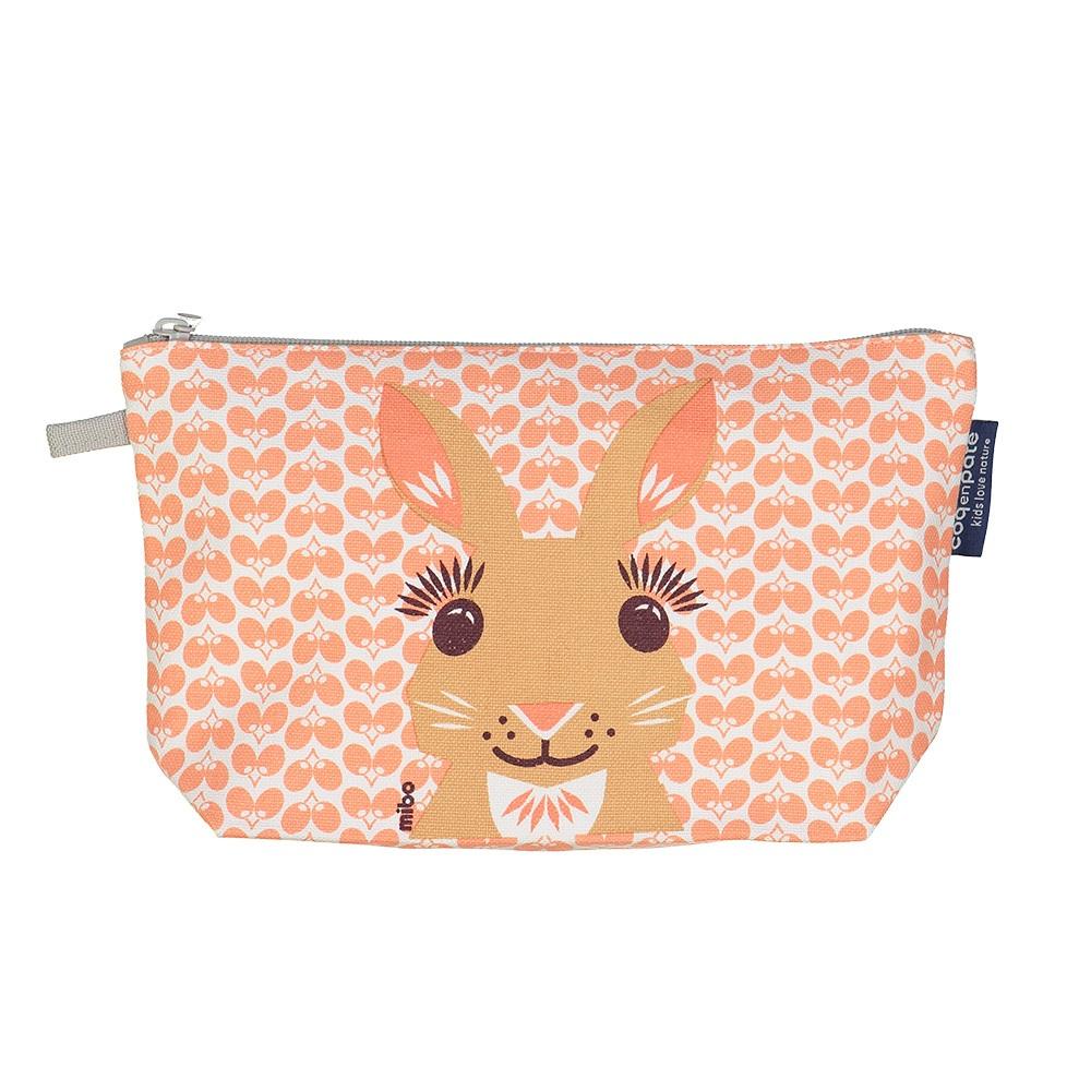 COQENPATE│法國有機棉無毒環保化妝包 / 筆袋- 畫筆兒的家 - 兔子