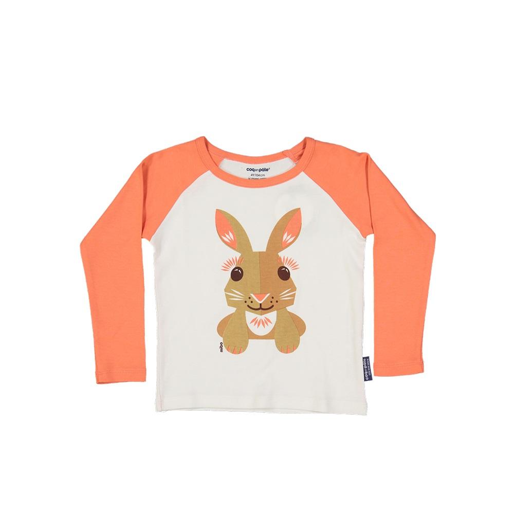 COQENPATE│有機棉童趣 長袖 T-SHIRT - 兔子