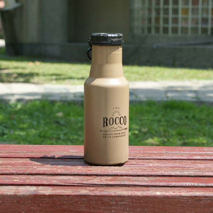 DESTINO STYLE|日本ROCCO OneTouch彈蓋隨身保溫/保冷水瓶500ml