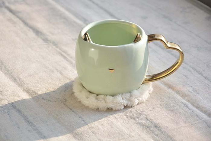 DESTINO STYLE|日本米雅貓馬克杯+杯墊組