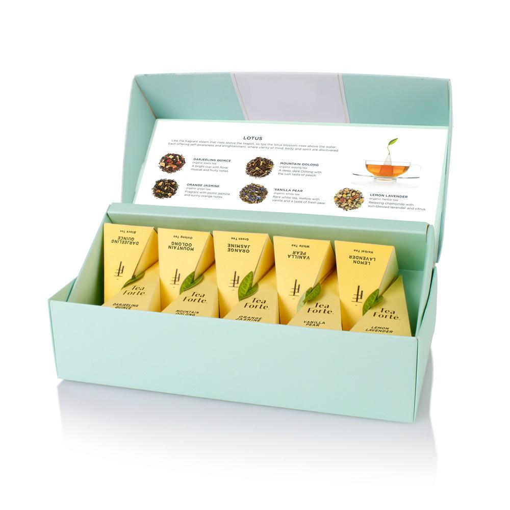 Tea Forté 10入金字塔型絲質茶包 - 靜心蓮語