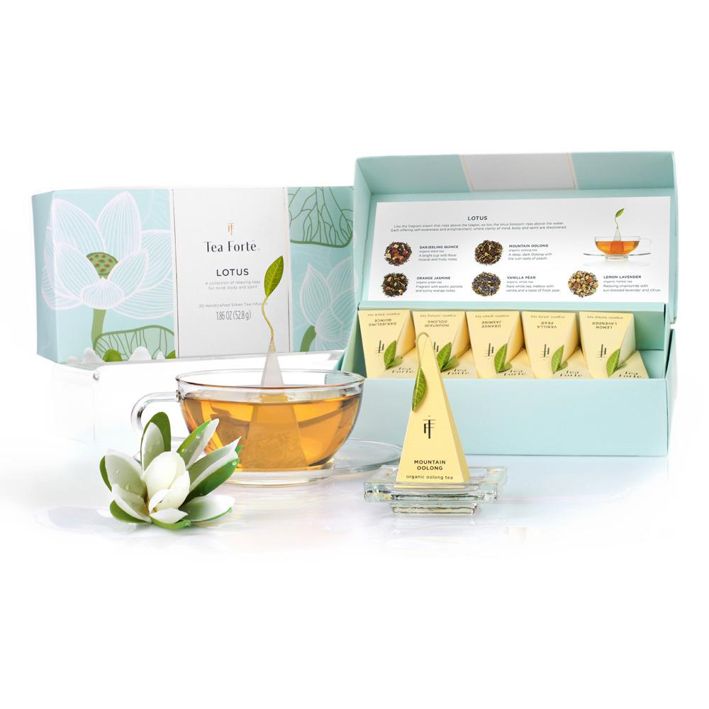 Tea Forté|10入金字塔型絲質茶包 - 靜心蓮語