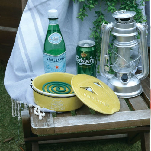 DESTINO STYLE 日本馬卡龍色防蚊防蟲陶瓷蚊香皿