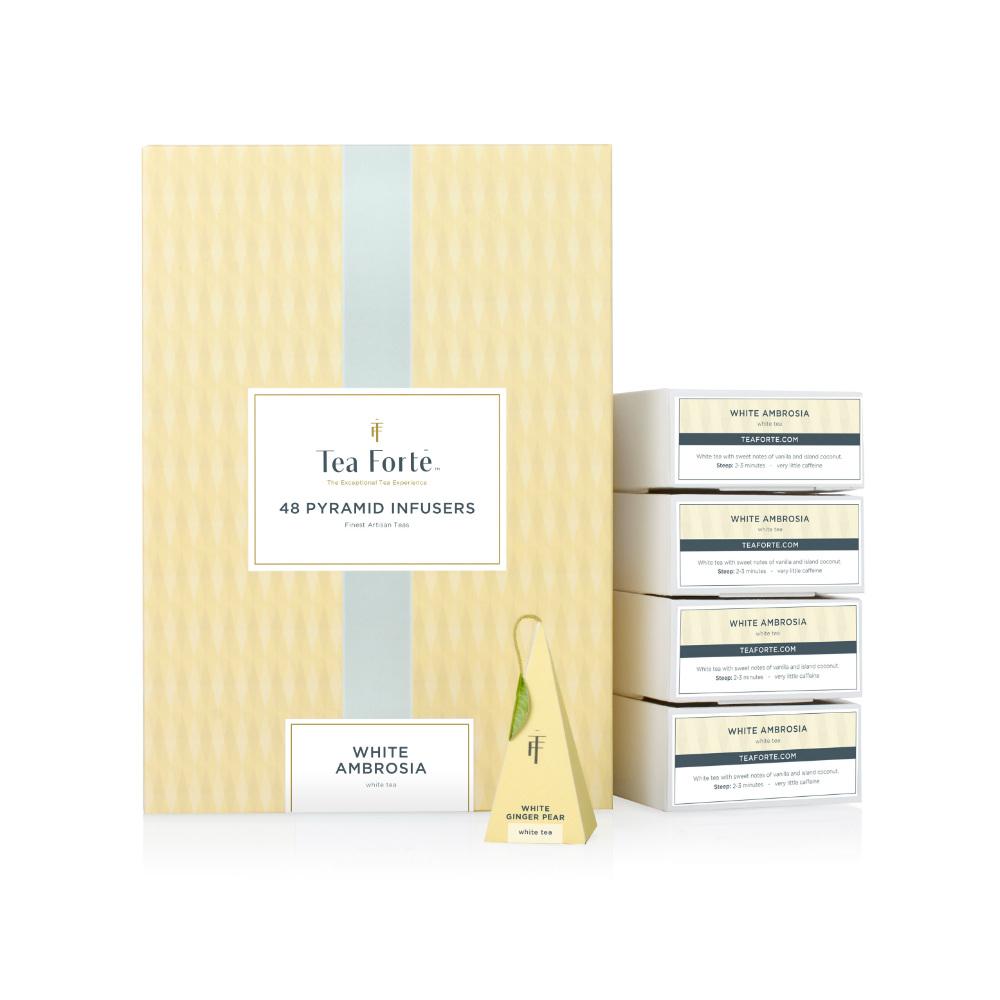 Tea Forté|48入金字塔型絲質茶包 - 白薑梨花茶