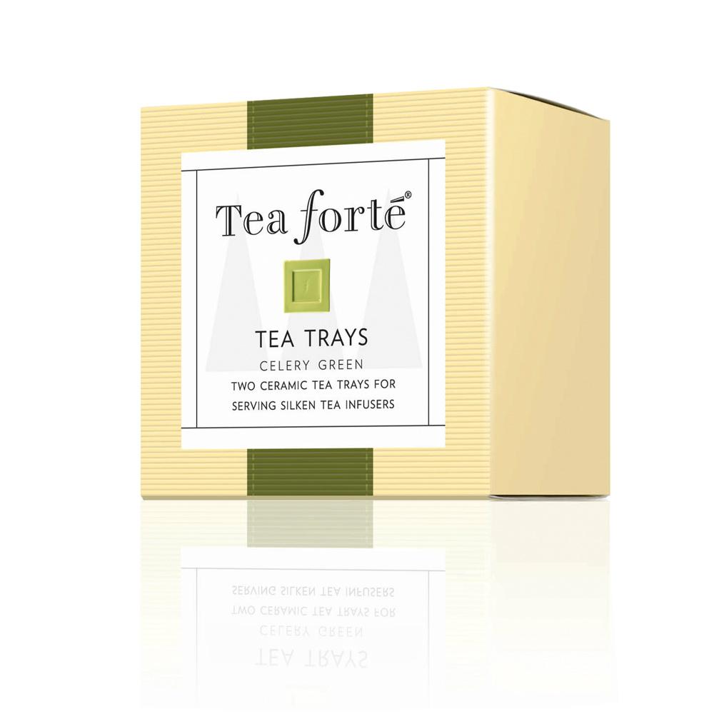 Tea Forté|2入陶瓷方型茶托