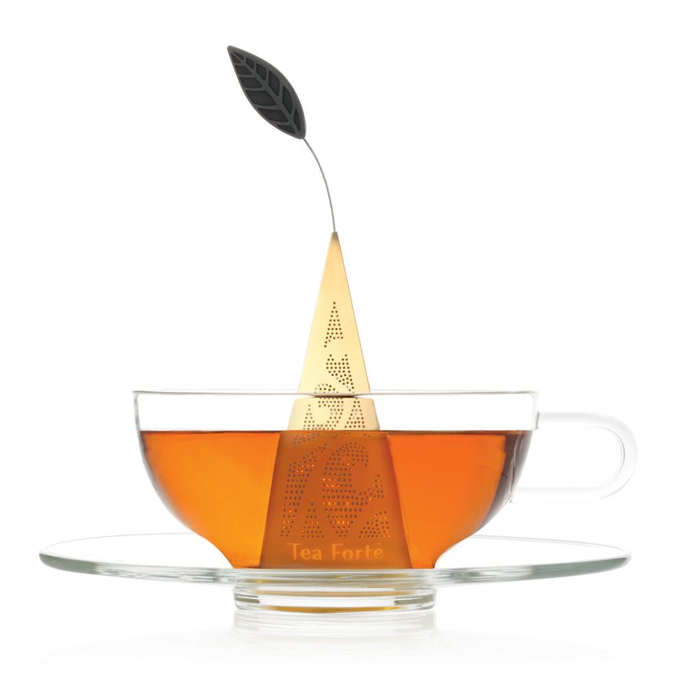 Tea Forté 23K鍍金金字塔型茶包濾茶器