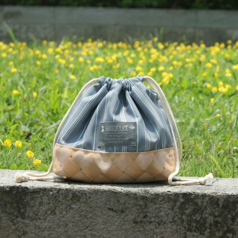 DESTINO STYLE|日本B/D直條紋束口便當袋