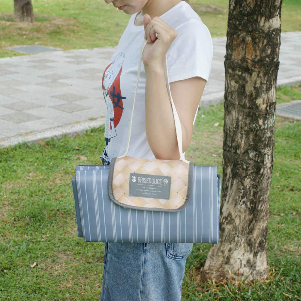 DESTINO STYLE|日本B/D直條紋肩背野餐墊