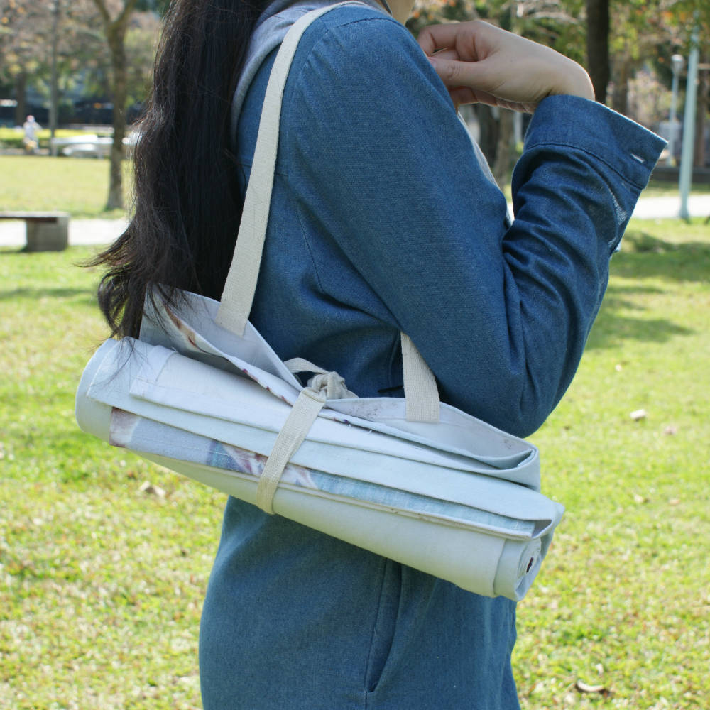 DESTINO STYLE|日本文青風自然系肩背野餐墊(小)