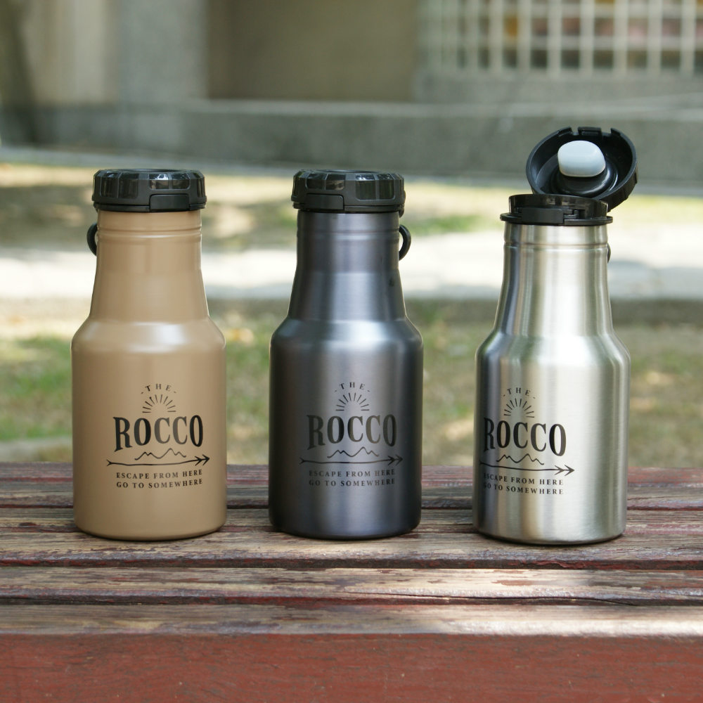DESTINO STYLE|日本ROCCO OneTouch彈蓋隨身保溫/保冷水瓶350ml