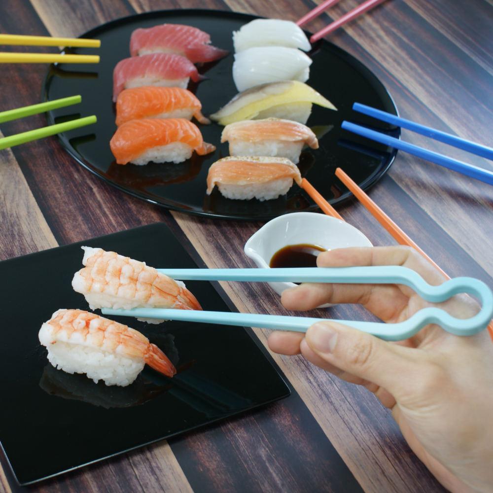 4U4U|6支入ABS學習筷/零食夾