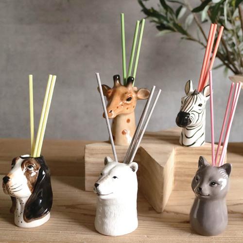 DESTINO STYLE 日本動物造型花瓶 擴香組