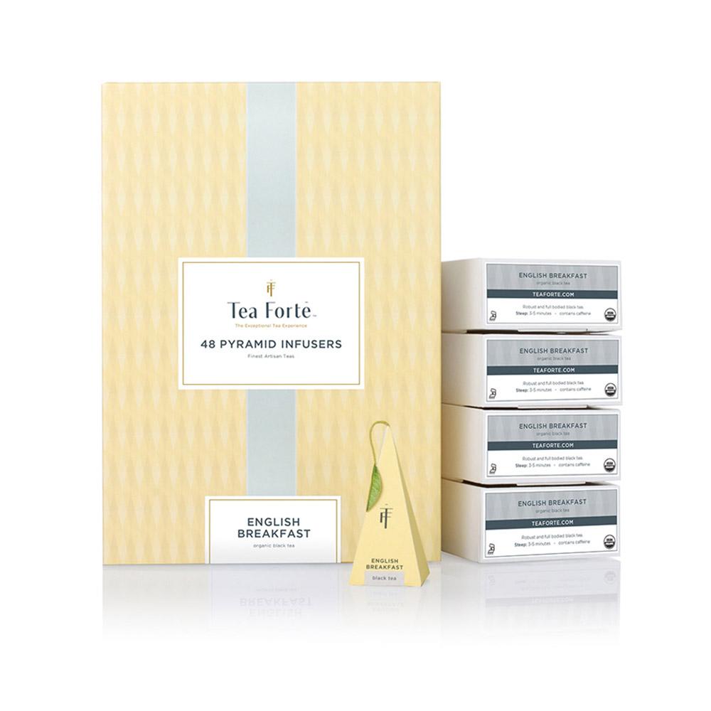 Tea Forté|48入金字塔型絲質茶包 - 英式早餐茶