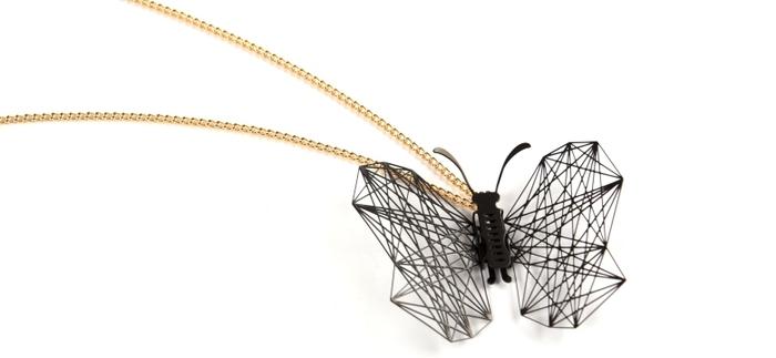 (複製)Magi-Steel|蝶@台灣 可換翅膀蝴蝶項鍊-幾何(金色)