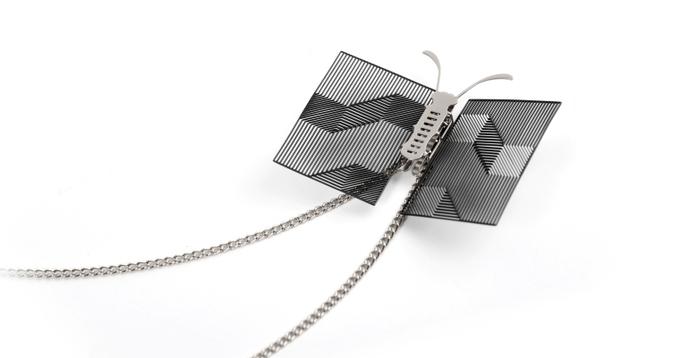 (複製)Magi-Steel|蝶@台灣 可換翅膀蝴蝶項鍊-似有若無系列–光圈(銀色)
