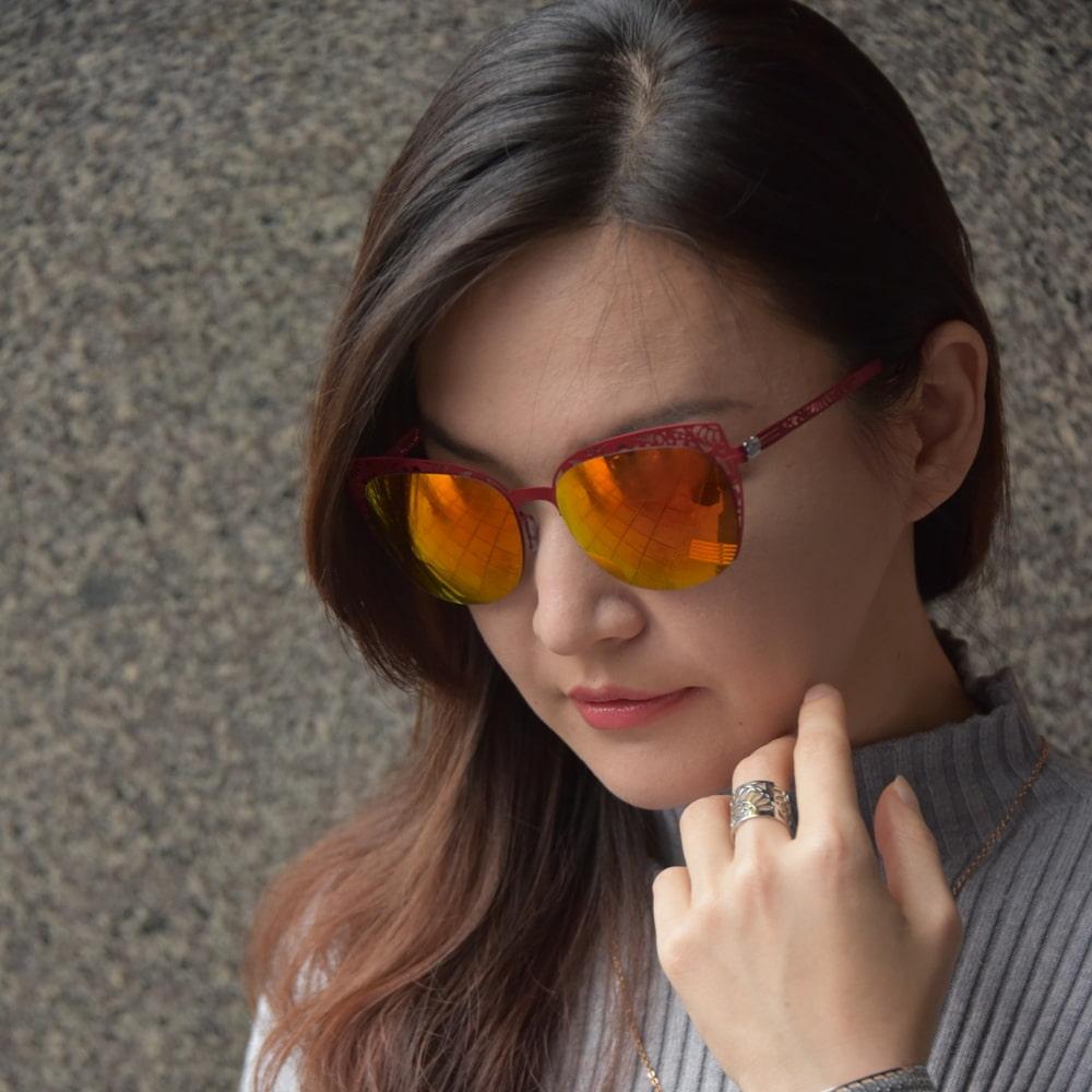 Magi-Steel|無螺絲專利結構 薄鋼太陽眼鏡  潮系列–Secret Garden