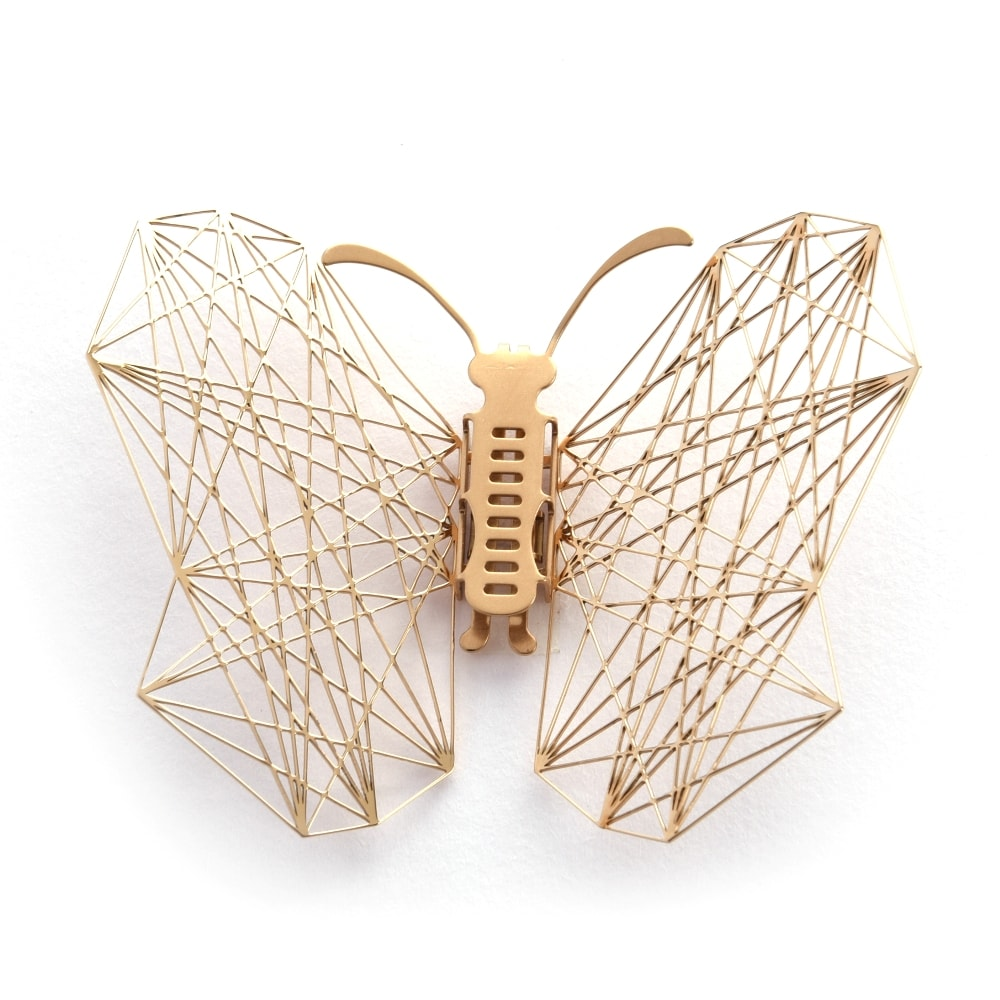 Magi-Steel|蝶@台灣 可換翅膀蝴蝶項鍊-幾何(金色)