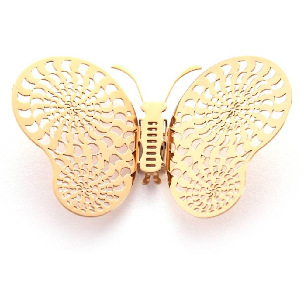 Magi-Steel|蝶@台灣 可換翅膀蝴蝶項鍊-似有若無系列–光圈(金色)