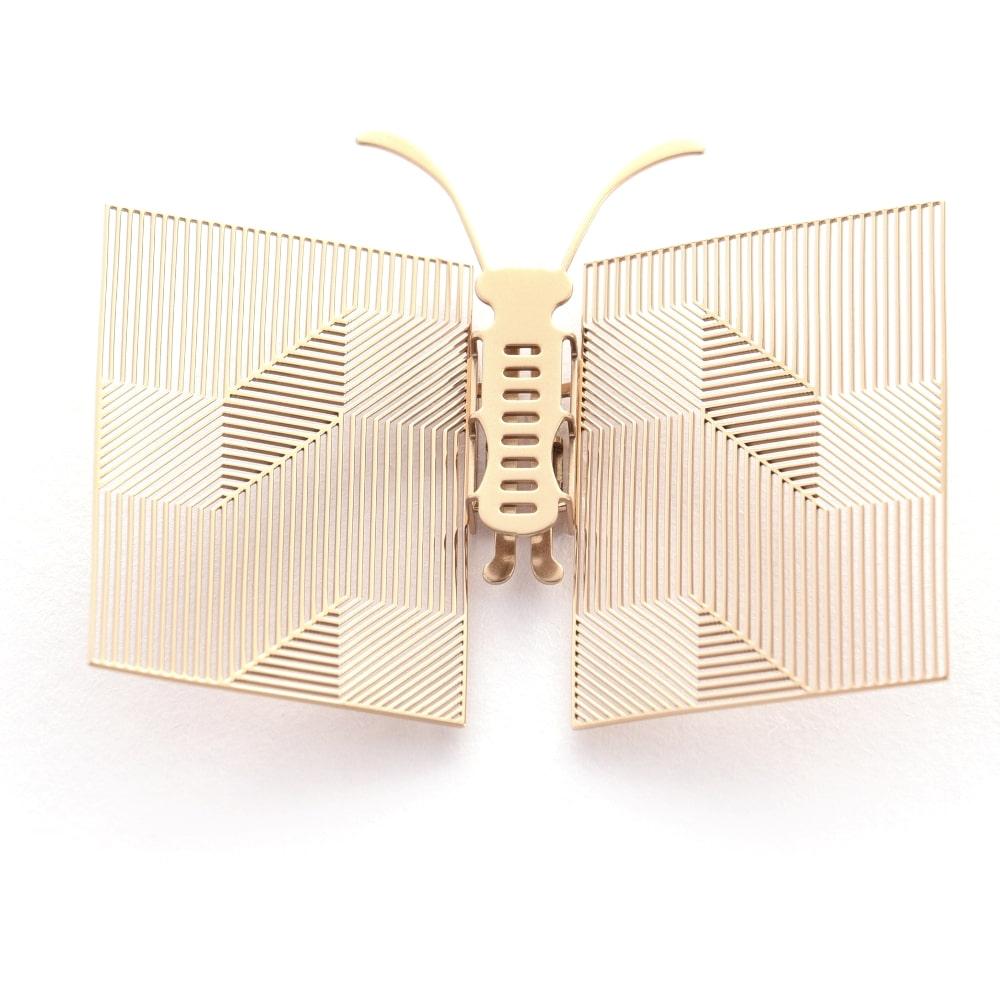 Magi-Steel|蝶@台灣 可換翅膀蝴蝶項鍊-似有若無系列–書卷(金色)