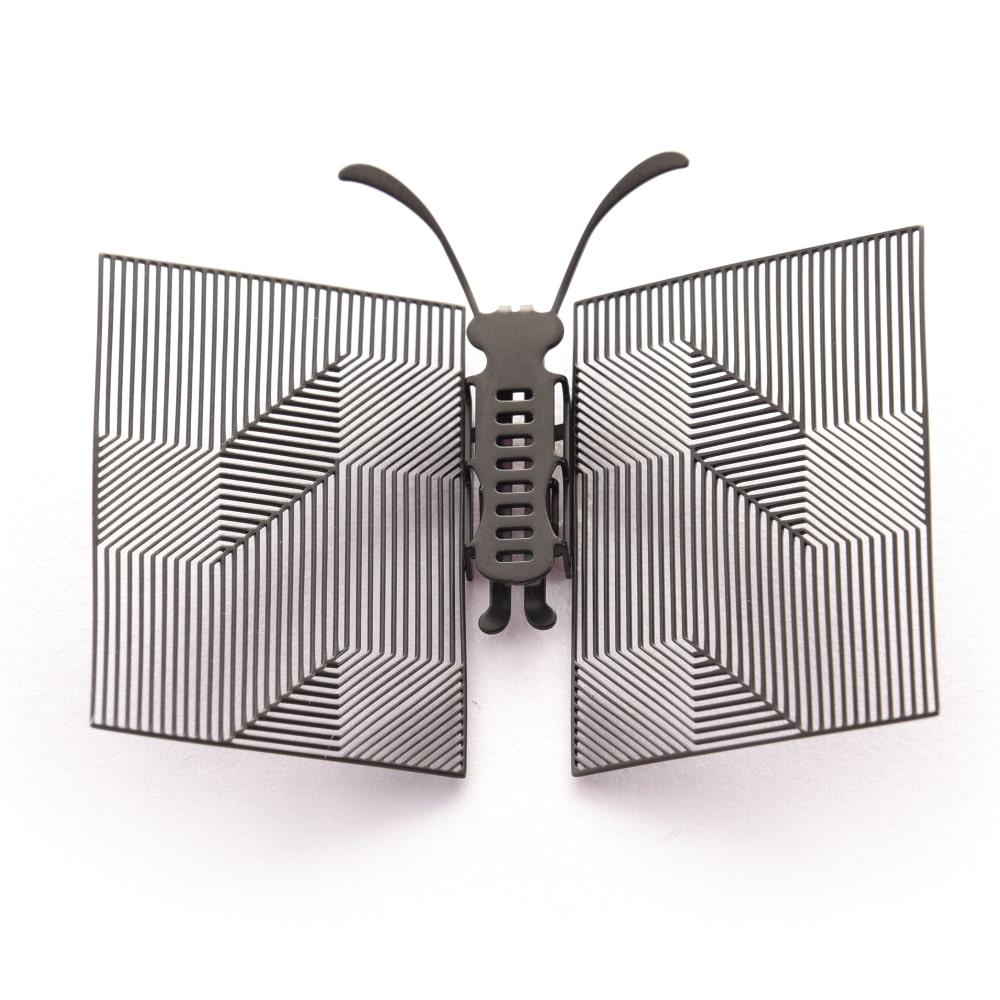 Magi-Steel|蝶@台灣 可換翅膀蝴蝶項鍊-似有若無系列–書卷(霧黑色)
