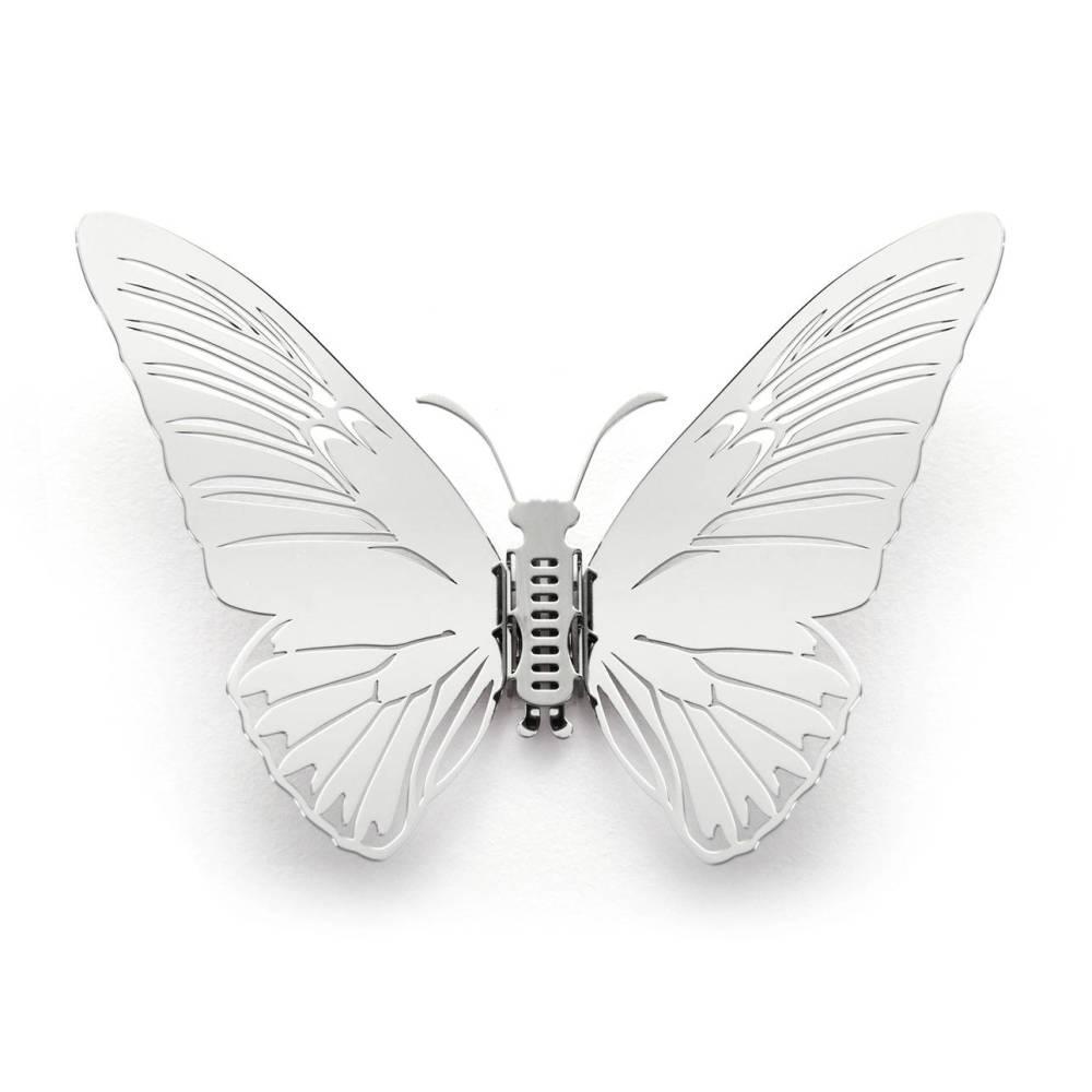 Magi-Steel|蝶@台灣 可換翅膀蝴蝶項鍊-蝶豔台灣系列–黃裳鳳蝶(銀色)