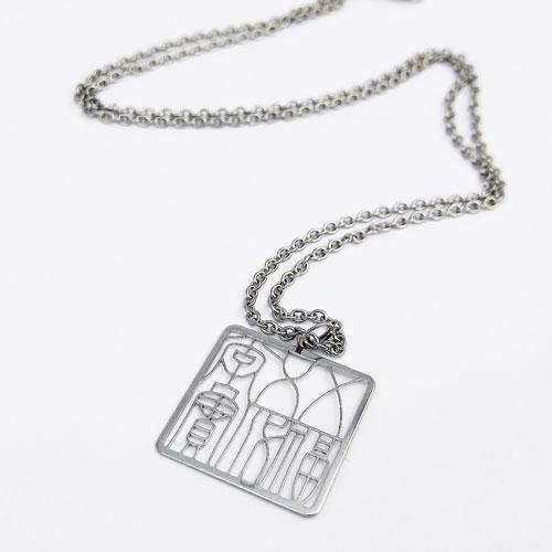 Magi-Steel |故宮古印系列-五福五代堂寶印章項鍊