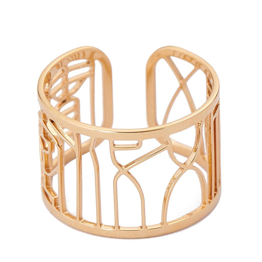 Magi-Steel 故宮五福五代堂寶印章戒指-黃金鍍膜