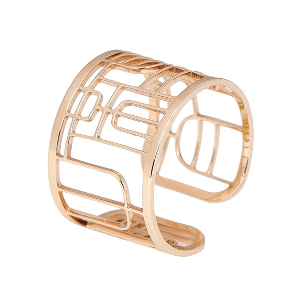 Magi-Steel|故宮太上皇帝之寶印章戒指-黃金鍍膜