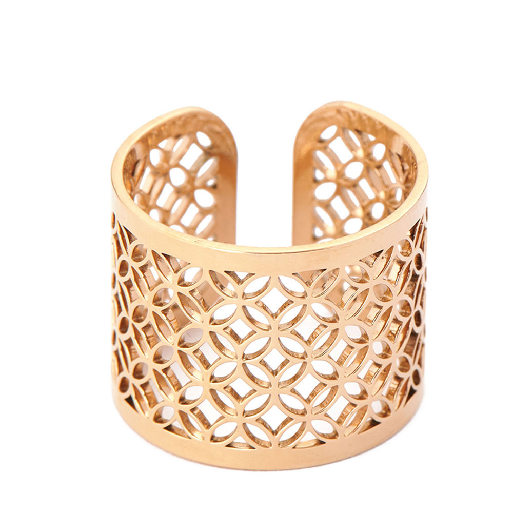 Magi-Steel 故宮富貴豐盛戒指-黃金鍍膜