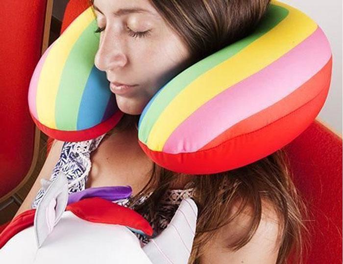 KIKKERLAND │ 獨角獸變形枕頭- 旅行靠枕