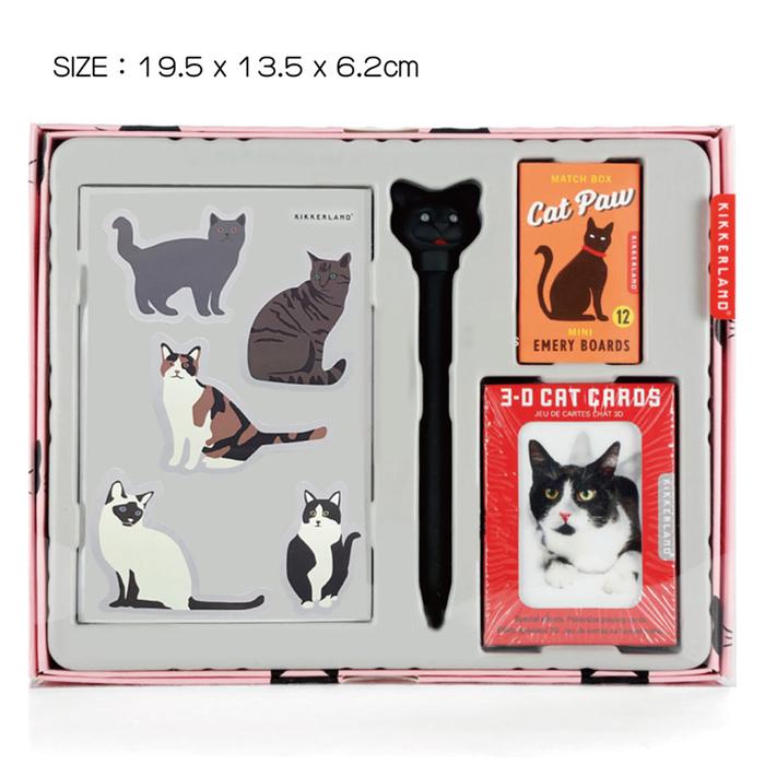 KIKKERLAND 貓造型文具禮盒