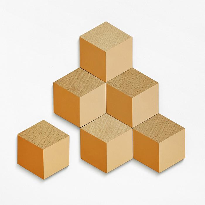 3D立體視覺效果杯墊 - 橘