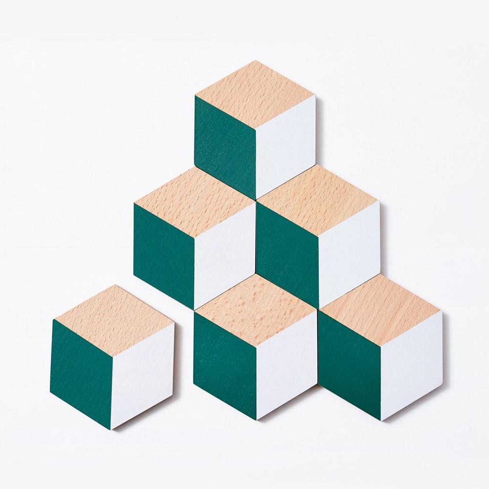AREAWARE|3D立體視覺效果杯墊 - 綠