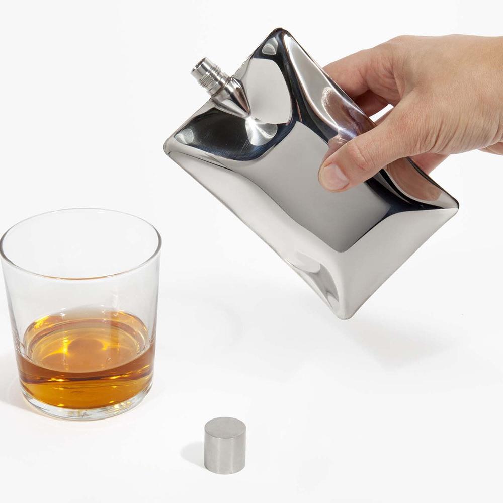 AREAWARE|造型雅痞不鏽鋼口袋酒瓶(3色可選)