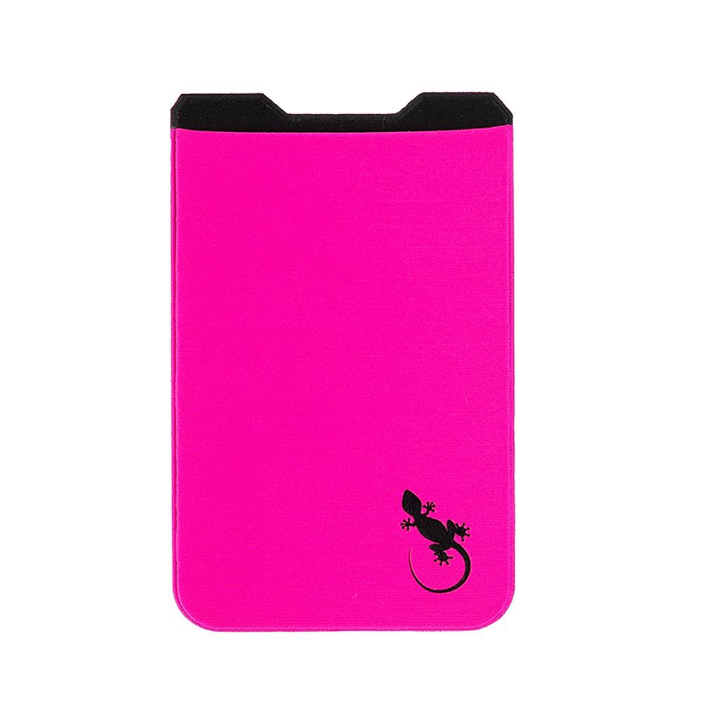 Gecko Travel Tech|防盜卡夾手機貼5件組-桃紅