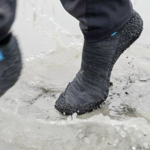 Skinners 裸足感耐磨機能運動鞋襪 (金屬灰)