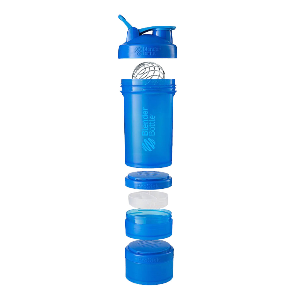 Blender Bottle|《ProStak系列》多層分裝可拆式運動搖搖杯(海洋藍)