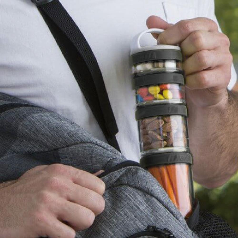Blender Bottle|《Gostak系列》多層補給保鮮罐(黑)