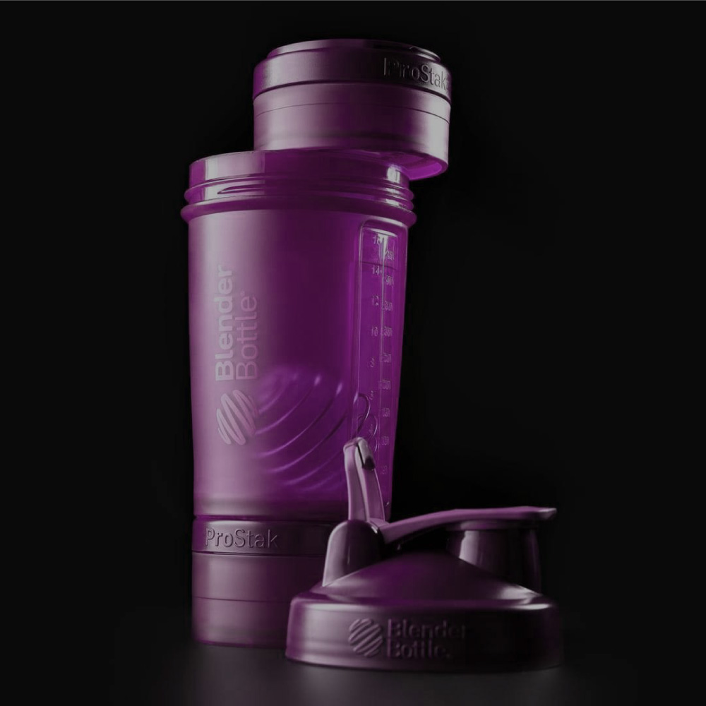 Blender Bottle|《ProStak系列》多層分裝可拆式運動搖搖杯(迷幻紫)