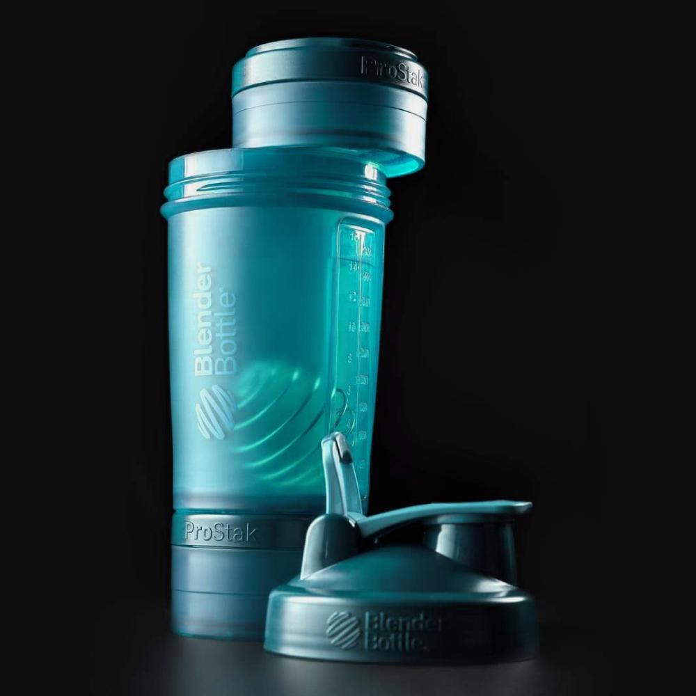 Blender Bottle|《ProStak系列》多層分裝可拆式運動搖搖杯(湖水綠)