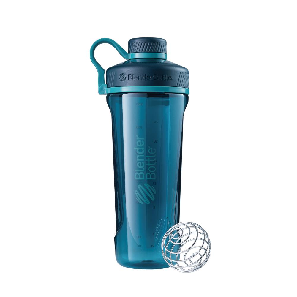 Blender Bottle|《Radian系列》32oz旋蓋直飲運動搖搖杯-深海綠