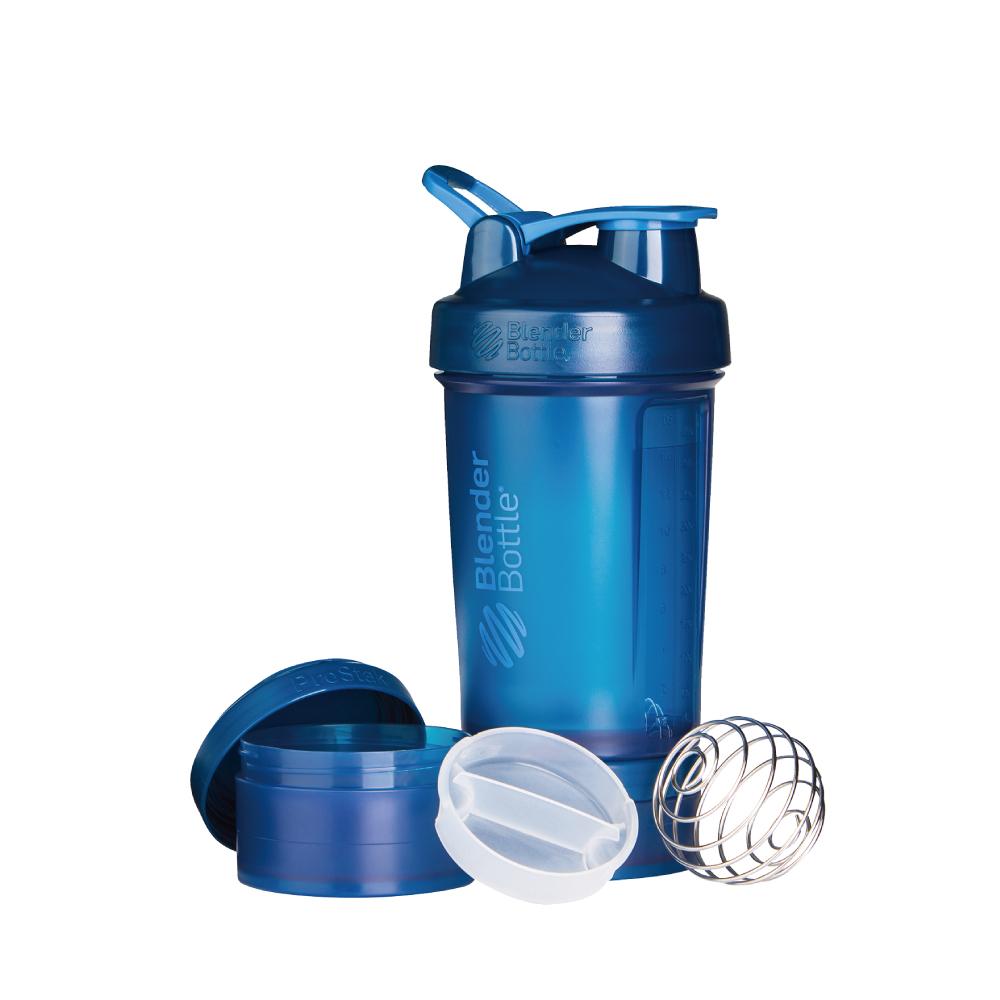 Blender Bottle|《ProStak系列》多層分裝可拆式運動搖搖杯(午夜藍)