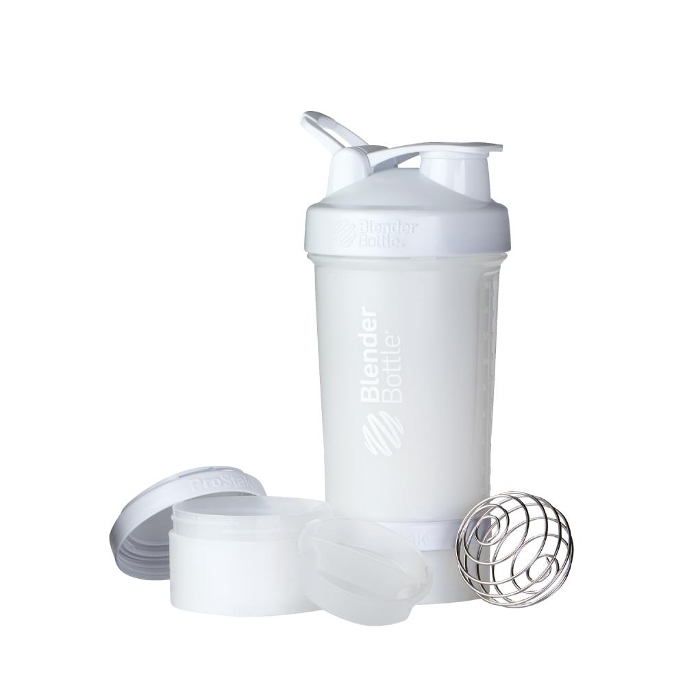 Blender Bottle|《ProStak系列》多層分裝可拆式運動搖搖杯(層雲白)