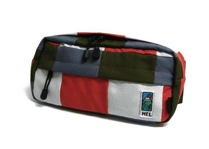 MEI|格子腰包 橄欖綠