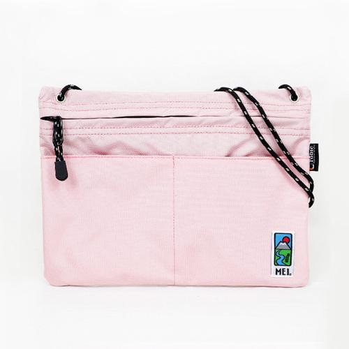 MEI|方型隨身包 淺粉紅