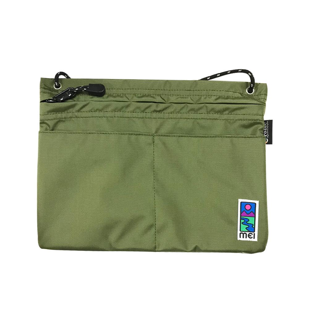 MEI|方型隨身包 橄欖綠