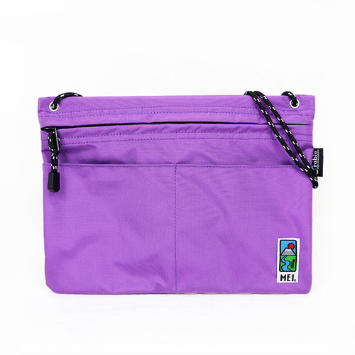 MEI|方型隨身包 紫